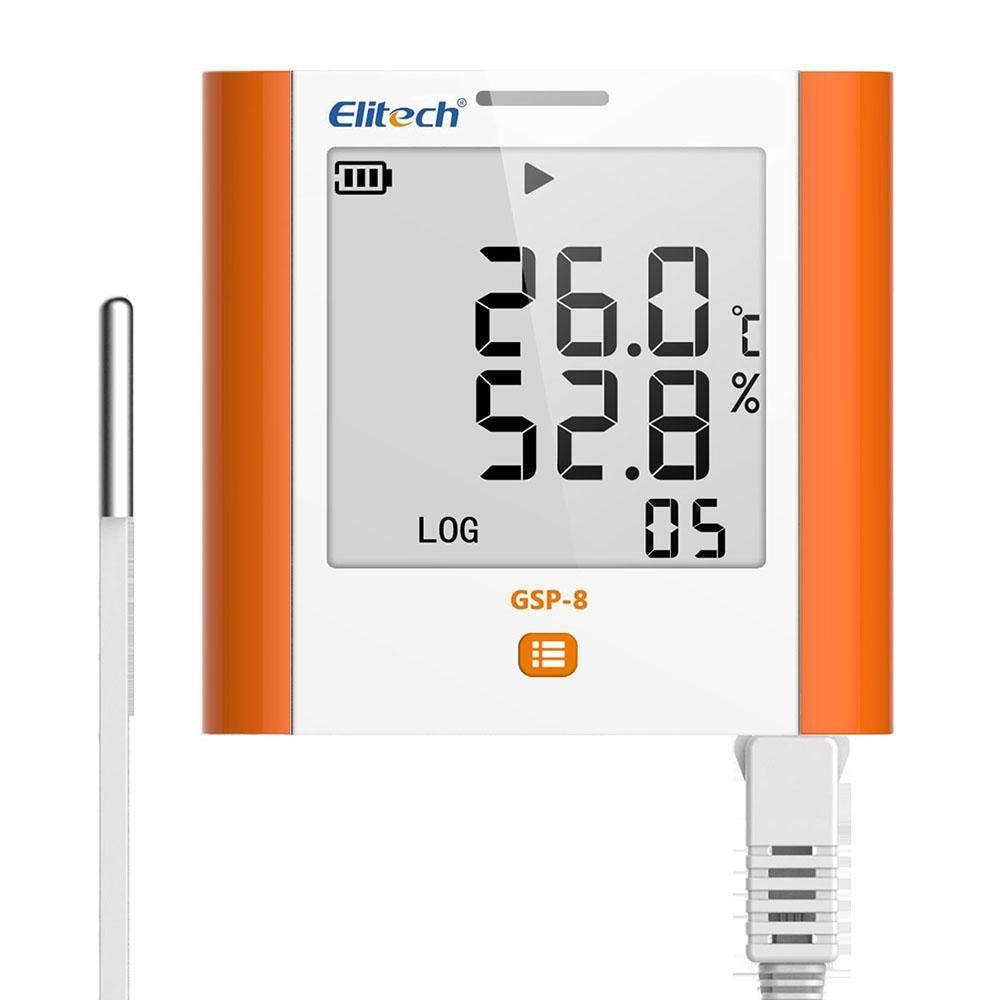 Elitech GSP-8 Temperature and Humidity Data Logger - Elitech Technology, Inc.