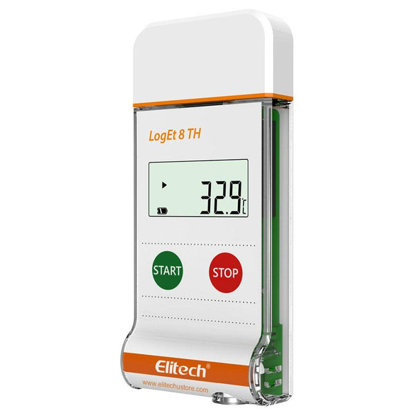 Elitech LogEt 8 TH Temperature and Humidity Data Logger Reusable PDF Report USB Port 16000 Points - Elitechustore