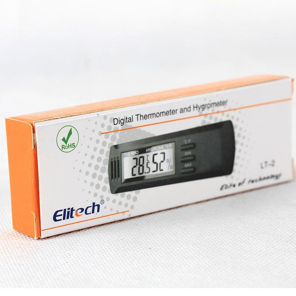 Elitech LT-2 Digital Temperature Home Office Thermometer Temperature and Humidity Memory - Elitechustore