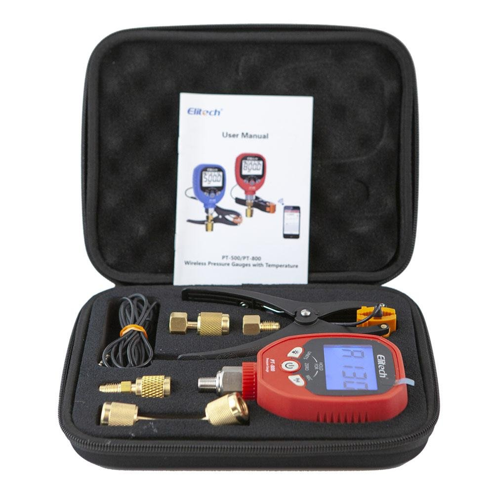 Elitech PT-800 Wireless HVAC Pressure Gauge Temperature Clamp - Elitech Technology, Inc.