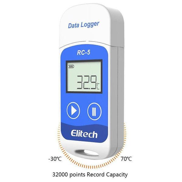Elitech RC-5 USB Temperature Data Logger Recorder 32000 Points High Accuracy - Elitechustore