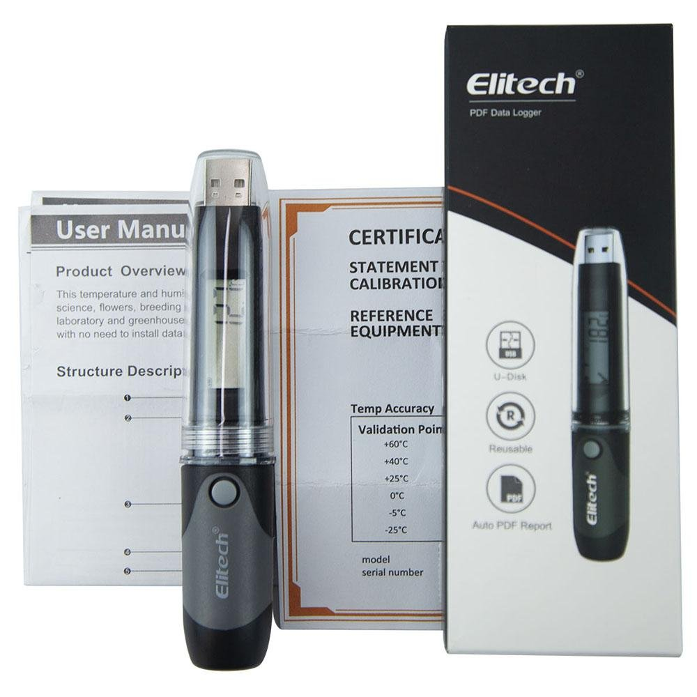 Elitech RC-51H Black PDF Temperature and Humidity Data Logger - Elitech Technology, Inc.