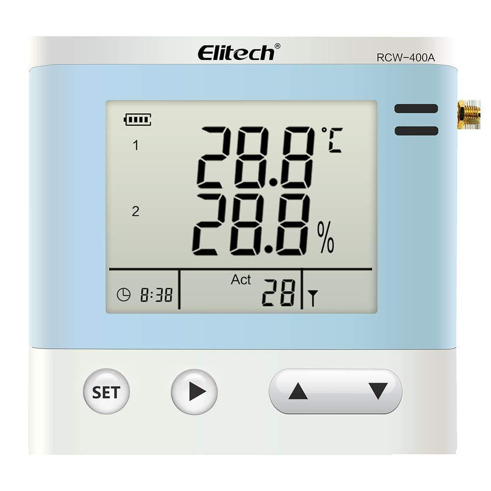 Elitech RCW-400A Wireless Temperature and Humidity Data Logger Remote Monitor Cloud Data Storage with 4 Sensors - Elitechustore