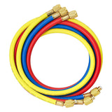 Elitech Refrigerant Charging Hose Set for R134a R404a R12 R22 Air Conditioning Refrigerant 1/4''Fitting, 59'', Red/Yellow/Blue (Pack of 3) - Elitech Technology, Inc.