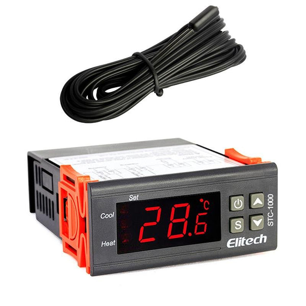 Elitech STC-1000 110V Thermostat Temperature Controller Incubator Aquarium Cold Chain - Elitechustore
