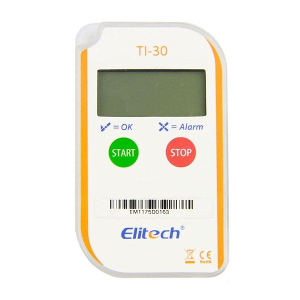 Elitech TI-30 LCD Temperature Indicator Single Use IP67 Waterproof Mini Sized Portable for Pharmaceutical Vaccine Cold Chain Transportation - Elitechustore