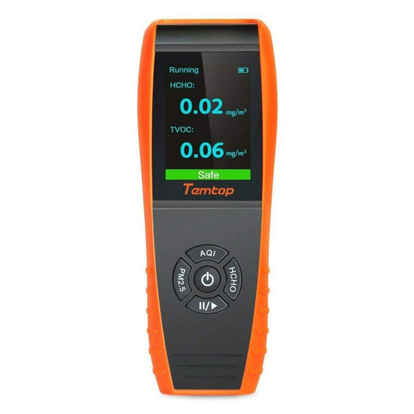 Temtop LKC-1000S+ Air Quality Monitor Formaldehyde Detector, Air Pollution Sensor, Humidity and Temperature Meter Tester with PM2.5/PM10/HCHO/AQI/Particles/TVOC VOC/Histogram - Elitechustore