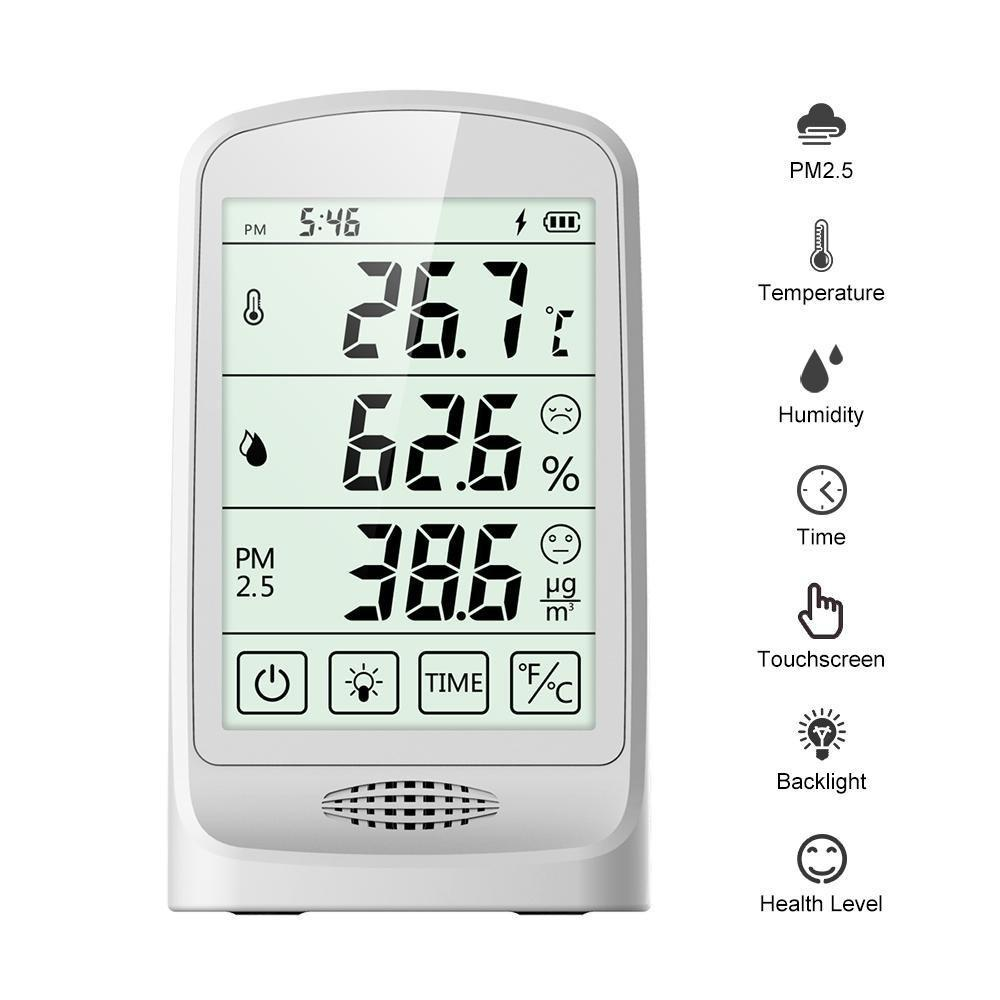 Temtop P15 Thermometer and Hygrometer Air Quality Monitor PM2.5 AQI Temperature Humidity - Elitech Technology, Inc.