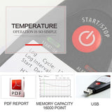 Temtop TemLog ST5 Single-Use PDF Temperature Data Logger 16000 Points (MAX) Disposable Temperature Recorder - Elitechustore