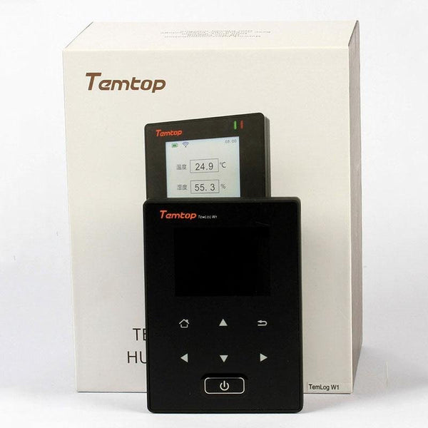 Temtop TemLog W1 Intelligent Wifi Temperature Data Logger Double Temperature Sensors Free Cloud Platform & Cell Phone Application - Elitechustore