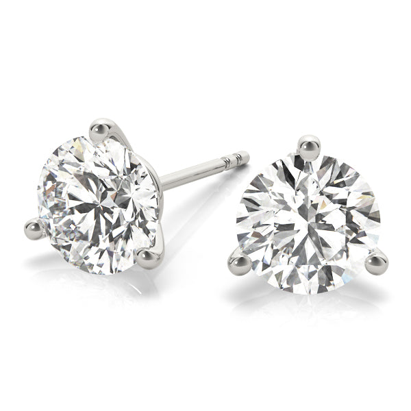 Diamond Stud Martini Earrings Round 0.50 ct tw 14kt Gold White