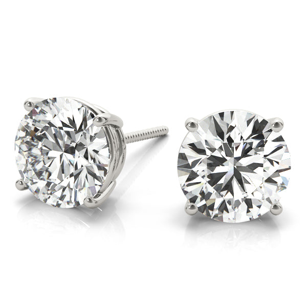 Diamond Stud Earrings Round 0.25 ct tw 14kt Gold White