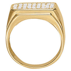 Men's Ring Diamonds 1.05 ct tw 14kt Gold Yellow Gold