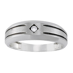 Men's Diamond Ring 0.05 ct tw 14kt White Gold