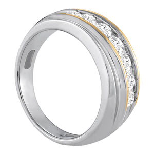 Men's Diamond Ring 1.06 ct tw 14kt Two-Tone Gold