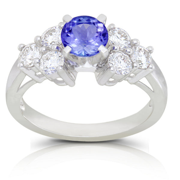 Tanzanite 0.82 ct tw Ring with 0.65 Diamonds & 14kt Gold