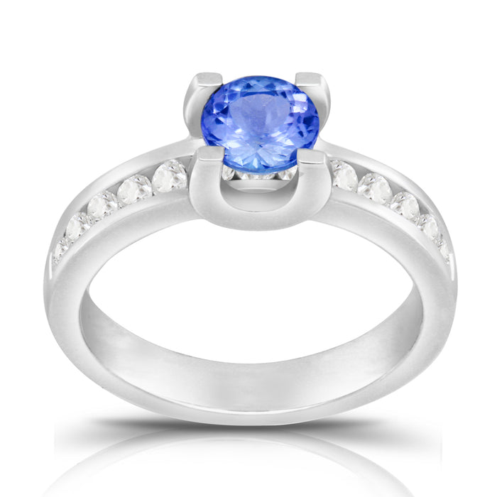 Tanzanite 1.00 ct tw Ring with 0.50 Diamonds & 14kt Gold