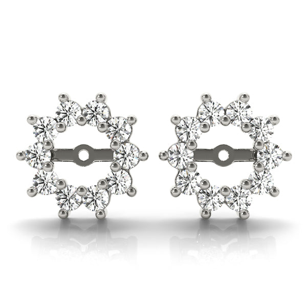 Diamond Earrings Jacket 1.00 ct tw 14kt White