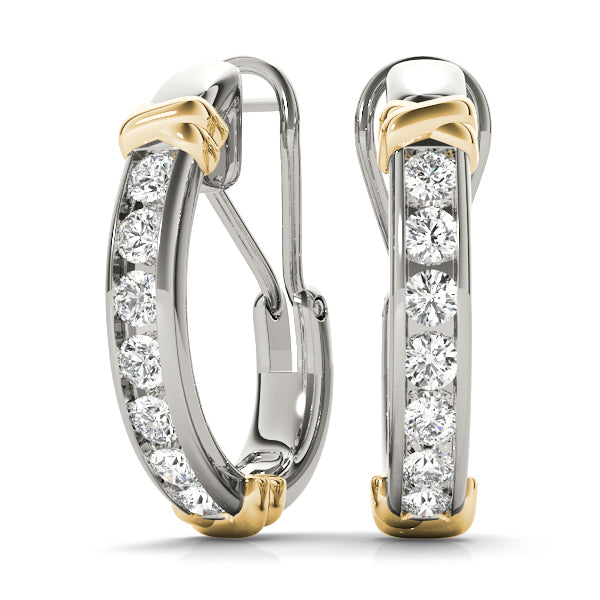 Diamond Hoop 0.68 ct tw 14kt Gold White - Huggies