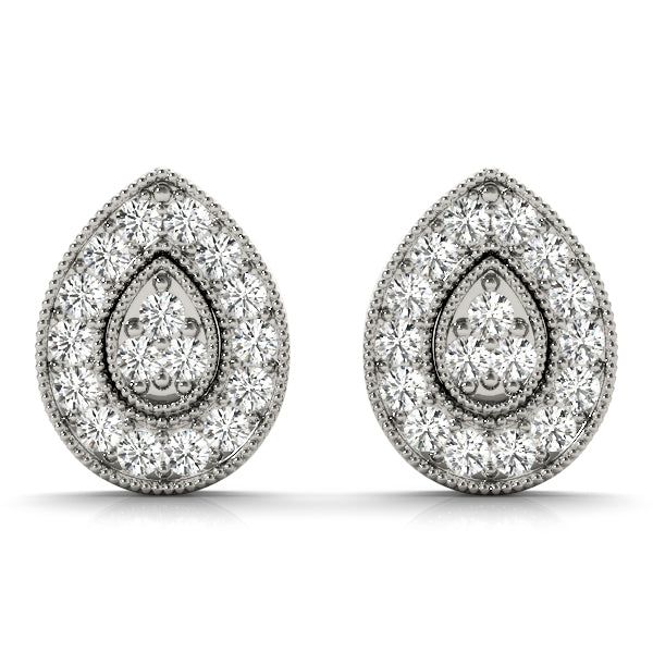 Diamond Earrings 0.41 ct tw 14kt Gold White