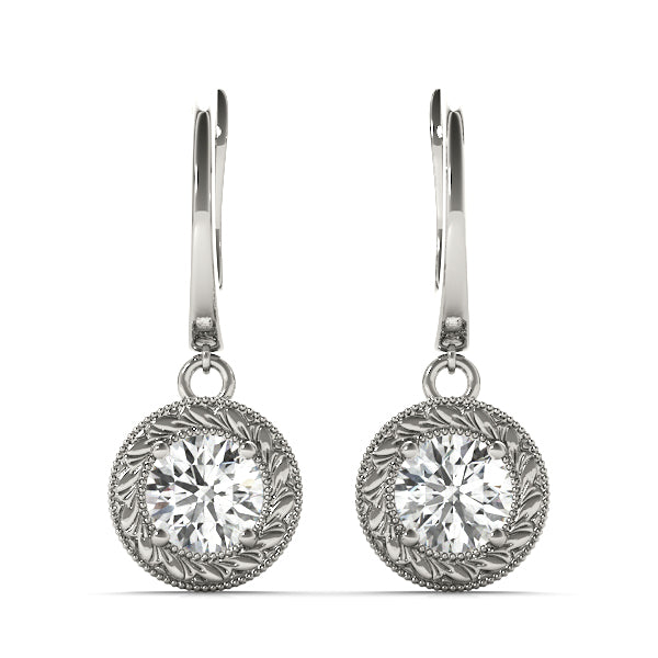 Diamond Earrings  1.14 ct tw 14kt Gold White