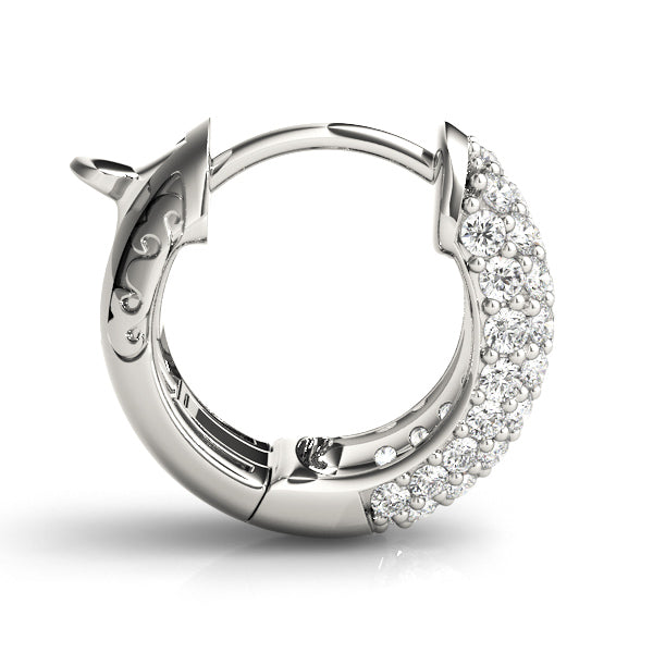 Diamond Hoop 1.00 ct tw 14kt Gold White - Huggies