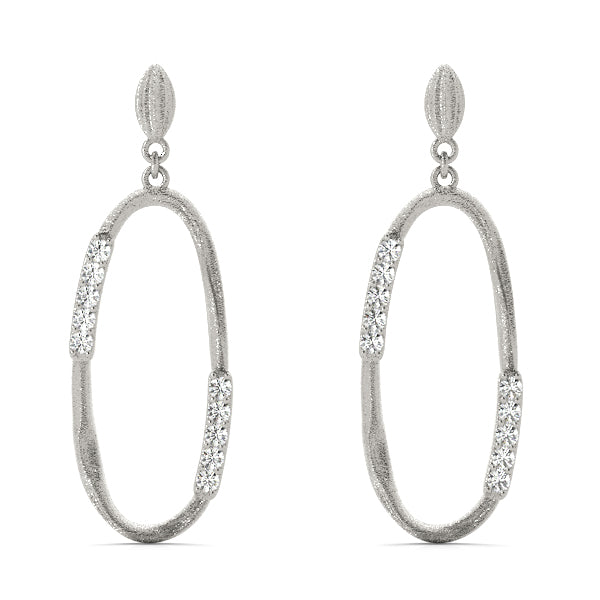 Diamond Earrings 0.12 ct tw 14kt Gold White