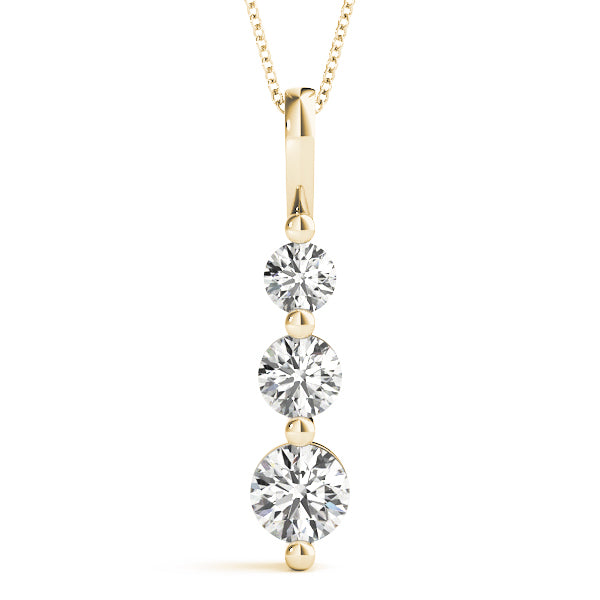Diamond Necklace 1.20 ct tw 14kt Yellow Gold