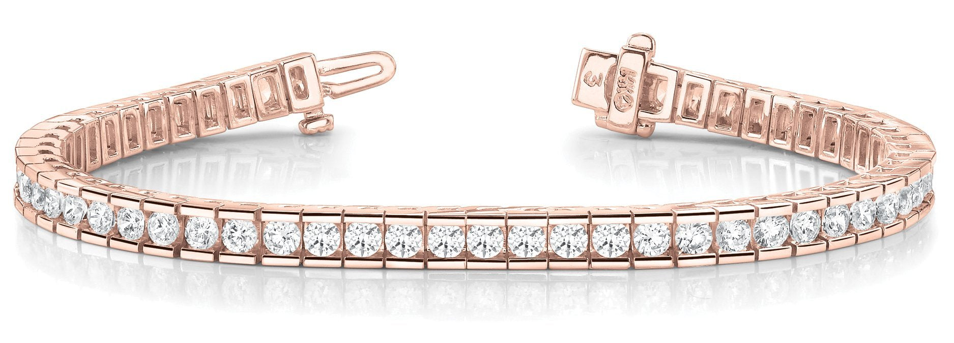 Line Diamond Bracelet 10.56ct tw Ladies - 14kt Rose Gold