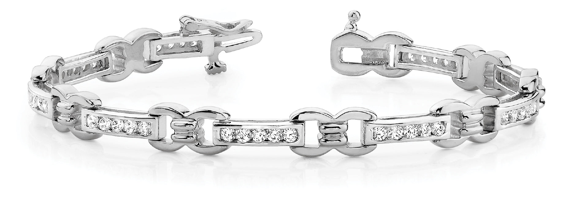 Fancy Diamond Bracelet Ladies 1.92ct tw - 14kt White Gold