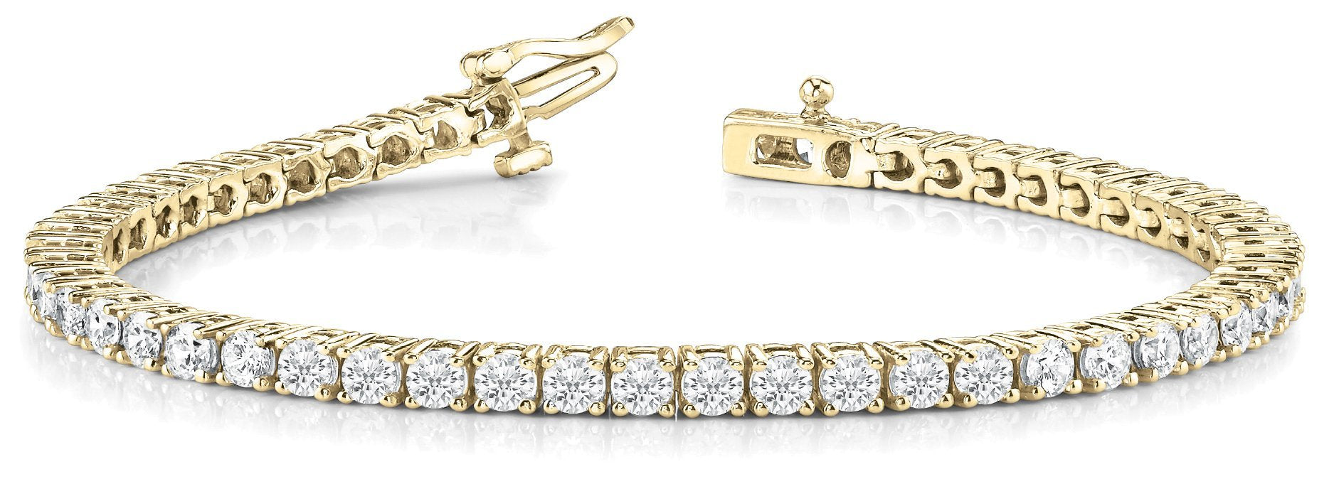 Line Diamond Bracelet 2.91ct tw Ladies - 14kt Yellow Gold