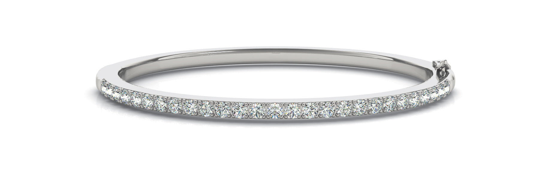 Diamond Bangle 3.24 ct tw - Ladies 14kt White Gold