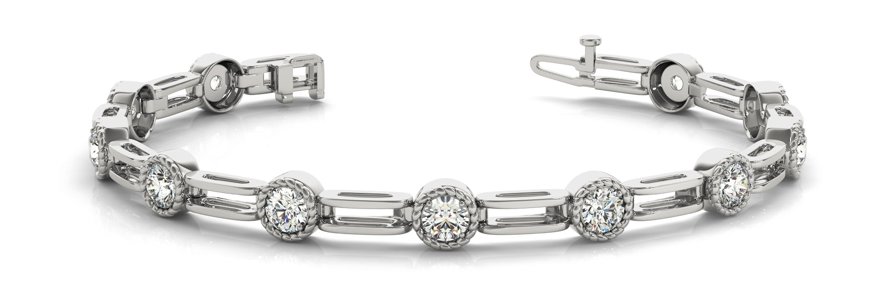 Fancy Diamond Bracelet Ladies 0.51ct tw - 14kt White Gold