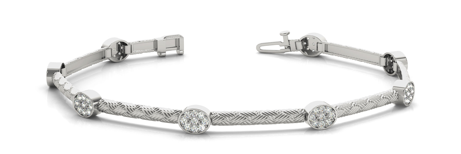 Fancy Diamond Bracelet Ladies 0.81ct tw - 14kt White Gold