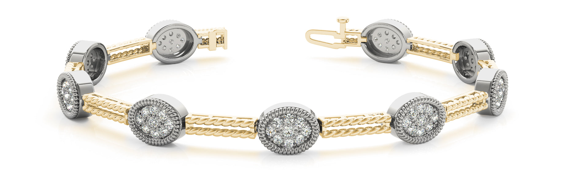 Fancy Diamond Bracelet Ladies 1.91ct tw - 14kt Yellow Gold