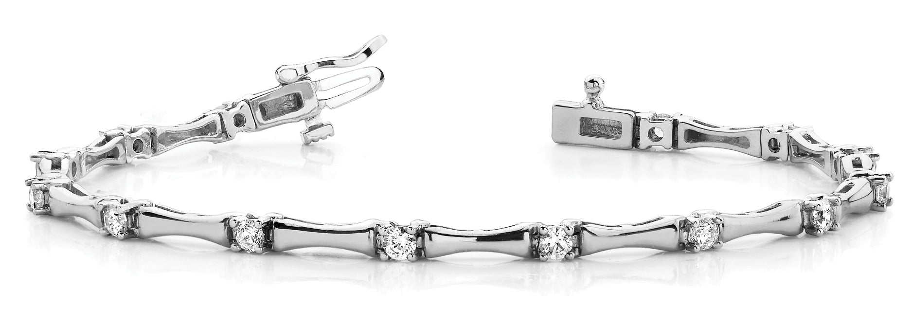 Fancy Diamond Bracelet Ladies 1.63ct tw - 14kt White Gold