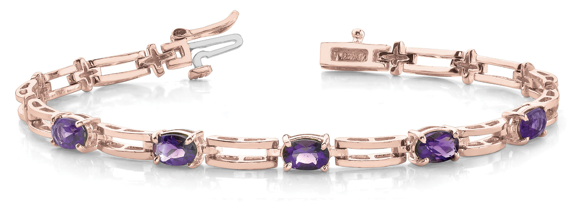 Amethyst 5.85ct Bracelet - 14kt Rose Gold