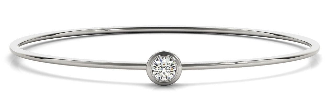 Diamond Bangle 0.42 ct tw - Ladies 14kt White Gold