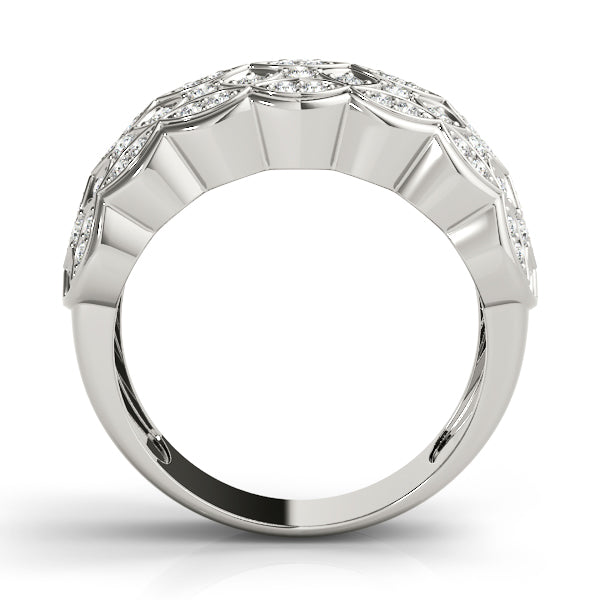 Diamond Ring Women's 0.60ct tw with 14kt Gold White