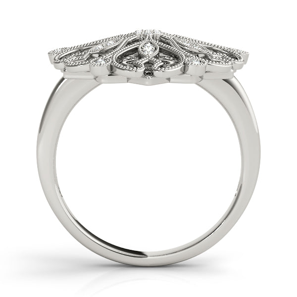 Diamond Ring Women's 0.17ct tw with 14kt Gold White