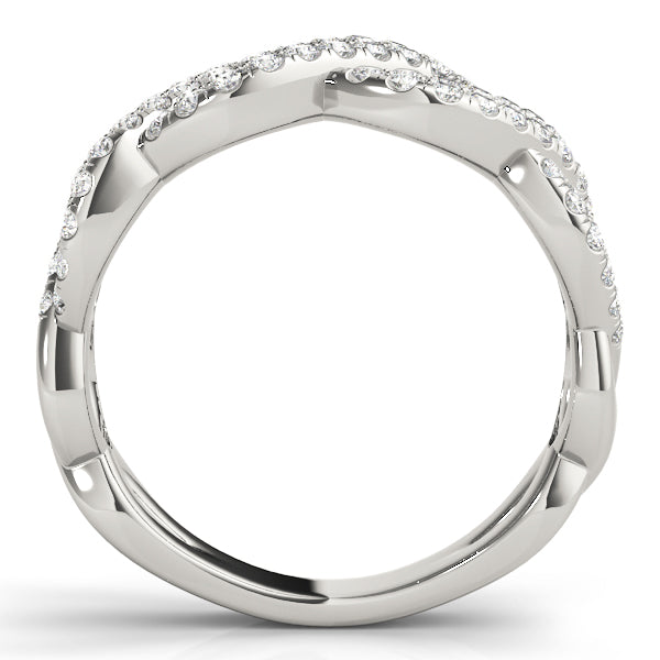Diamond Ring Women's 0.80ct tw with 14kt Gold White