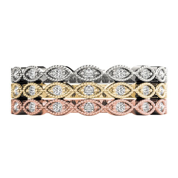 Stackable Diamond Rings 0.11ct 14kt Gold - $963 for Set of 3
