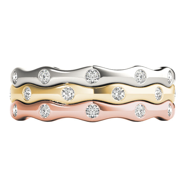 Stackable Diamond Rings 0.22ct 14kt Gold - $1086 for Set of 3