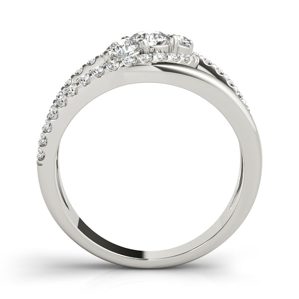 Diamond Ring Women's 0.94ct tw with 14kt Gold White