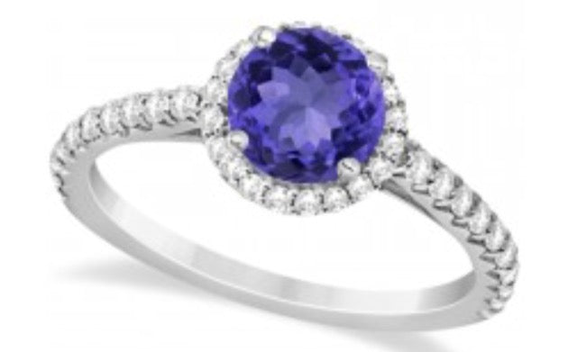 Tanzanite 1.00 ct tw Ring with 0.45 ct tw diamonds & 14kt Gold