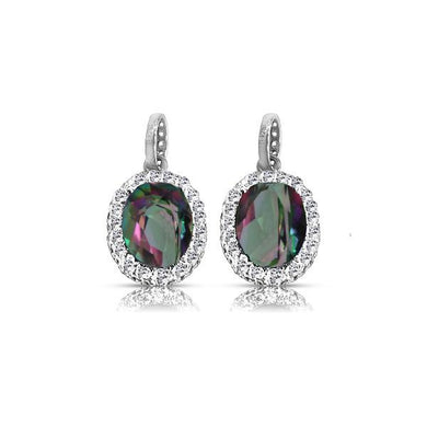 925 Sterling Silver Caymanique Earrings, cttw
