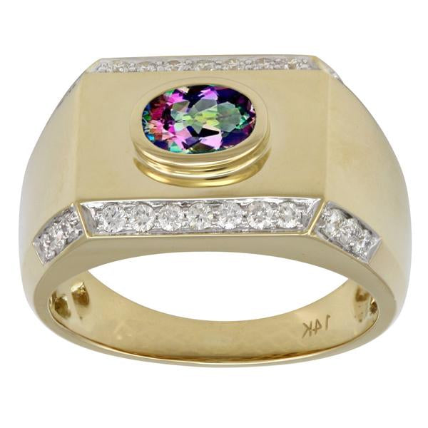 Caymanique Ring with 1.15cttw diamonds in 14kt Yellow Gold