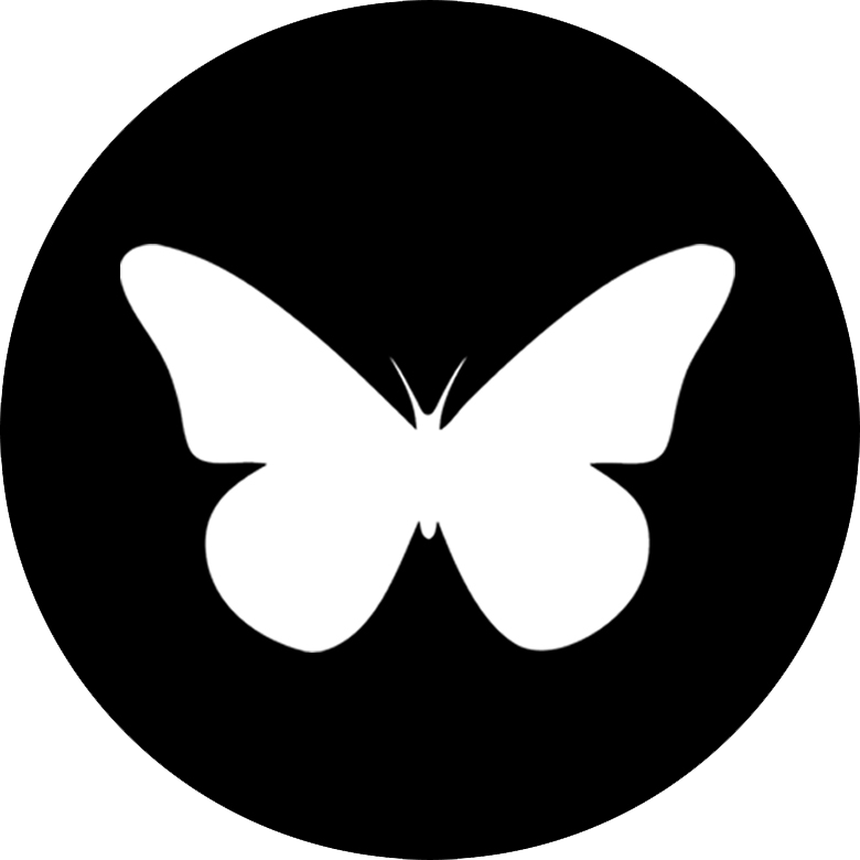 Butterfly Playing Cards Black