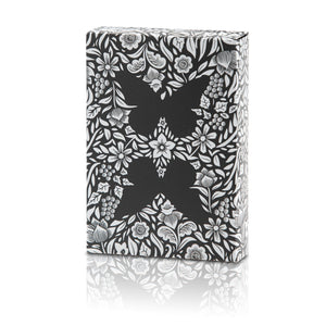 Butterfly Playing Cards Black & Silver Unmarked