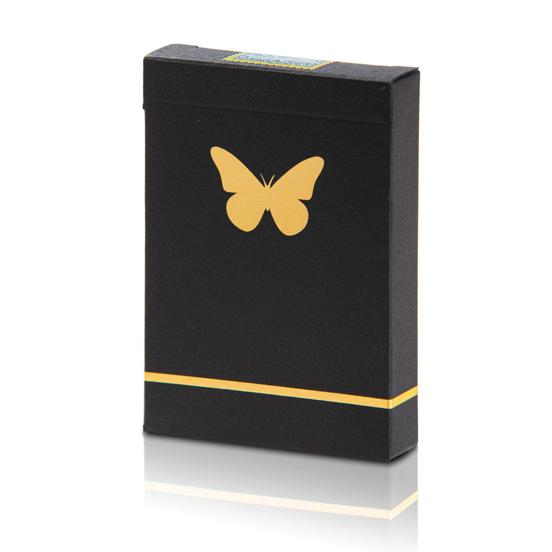 Butterfly Playing Cards Black & Gold Marked